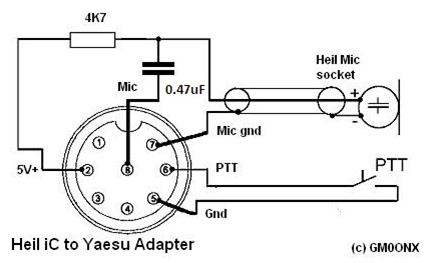 Heil iC to Yeasu adapter